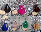 10 or 20pc medicine pouch necklace suede purse+charms FairTrade WHOLESALE JOBLOT