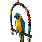 Wooden Pet Bird Parrot Swing Toys Parakeet Cockatiel Lovebird Budgie Cage Hang