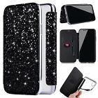 Luxury Bling Glitter Leather Clear TPU Wallet Case Cover For iPhone X/8 Plus/7/6