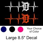 Detroit Tigers Heartbeat Vinyl Decal/Sticker Large 8.5 x 2.6 Inch  Lions Pistons