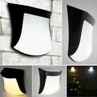 Rechargeable LED Solar Power Wall Garden Light Stairs Lamp Outdoor Waterproof