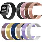 Magnetic Loop Metal Stainless WristBand Strap Band Brecelet For Fitbit Versa S/L