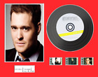 Michael Buble Vinyl CD Display Black or Gold Disc and 3 film cells and label