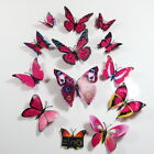 12 pcs Magnetic Butterfly Wall Stickers Decal Home Decorations Decor Double Wing <br/> U.K SELLER, QUALITY GUARANTEE, FAST DISPATCH, HOT SALE