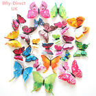12 Pcs Magnetic Butterfly Wall Stickers Decal Home Decorations Decor Double Wing