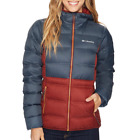 COLUMBIA WOMENS M  EXPLORER FALLS HOODED DOWN INSULATED PUFF