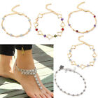 New Women Sexy Crystal Anklet Ankle Bracelet Barefoot Sandal Beach Foot Jewelry