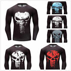 The Punisher New Skull Daredevil Skull Ghost T-shirt Compression Gym Fitness