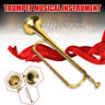 More images of Child Kids Golden Trumpet Horn Musical Instrument Military School Beginner Gift