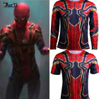 Mens Compression GYM T-Shirt Cosplay Iron Spider-Man 2018 Avengers Infinity War image