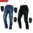 Men's Motorcycle Motorbike Jeans Trouser Reinforce with Aramid Protection Lining