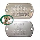 Dog Tag Luggage Tag Boot Tree Personalized Stainless Steel Polished or Matte USA