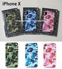 A BATHING APE Goods ABC iPhone X CASE Green / Blue / Pink 3colors New