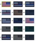 "Внешний вид -  USA American Flag REVERSE Patch 2"" x 3"" Hook And Loop Choice Military Tactical"