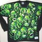 JUICY J STAY FLY-SKULL PILE-GLOWS IN DARK-Long Slv 2 Sd SHIRT S-M- L-XL-XXL Scot