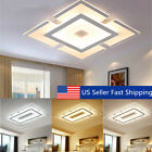 Modern Elegant Square Acrylic LED Ceiling Light Living Room Bedroom Home Lamp