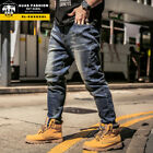 AUAS Fashion Men's Plus Size Large size Big Guys Muscular Man Straight Fit Jean