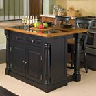 Home Styles Sovereign Slide Out Leg Kitchen Island with Granite Top