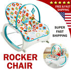 Infant to Toddler Rocker Bouncer Seat Feed Baby Chair Sleeper Swing Toy Portable