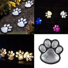 Solar Power 4xDog Cat Animal Paw Light Lamp LED Garden Outdoor Path Home Decor