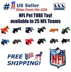 NFL DOG TOY - Licensed Tube Toy. Soft Plush with 2 inner Squeakers. 25 NFL Teams $11.99 USD on eBay