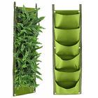 6 Pocket Vertical Greening Hanging Wall Garden Plant Grow Pot Bag Planter Us
