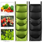 6/7 Pocket Vertical Greening Hanging Wall Garden Plant Grow Pot Bag Planter US