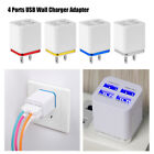 1/2/4 Port 5V USB AC Wall Charger Home Travel AC Fast Charger Adapter US/EU Plug