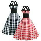 Women 50S 60S Vintage Style Pinup Swing Evening Party Sleeveless Retro Dress