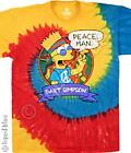 THE SIMPSONS-PEACE MAN-HOMER,MARGE, BART, LISA-TIE DYE T-SHIRT S-M-L-XL-XXL NEW