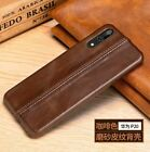 Luxury Real Genuine Cowhide Leather Line Back Cover Case Shockproof For Huawei