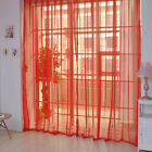 Modern Pure Color Tulle Door Window Curtain Drape Panel Sheer Scarf Valances