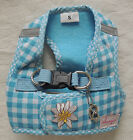 "♥ Hundegeschirr alvonja ""SMART"" Softgeschirr blau/weiß in XS - L ♥"