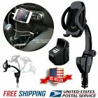 Dual USB Car Charger Holder Mount W/ Cigarette Lighter Socket Charger for iPhone
