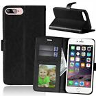 For Motorola Moto Leather Flip Wallet Card Slot Case Cell Phone Pouch Stand Fold