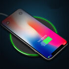 Qi Wireless Charger Slim metal Pad Charging Mat for Apple iPhone 8 8 Plus Hot US