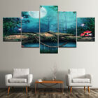 Fairy Tale Land Mushroom Wold 5 Piece Canvas Art Print Picture Wall Decor