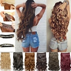 light brown burgundy hair - Fashion Ladies Synthetic One Piece Clip In Hair Extensions Full Head Long Curly