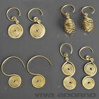 1 Pair Earrings Brass Ethno Vintage Antique Style Spirals Goa Ear Hanging ER5