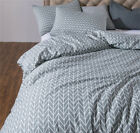 Cotton Bedclothes Stripe Bed Linen Set Comforter Duvet Cover Bedding Set US King