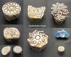 Hand Carved Wood Printing Blocks Textile Stamp Wooden Brown Block various Design