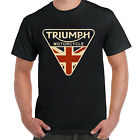 Mens Craked Union Jack Triumph Motorcycle Shirt UK Flag Clothing T Shirt Vintage $12.99 USD on eBay