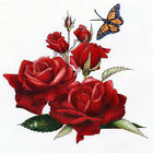 Gift 5D DIY Diamond Painting Flowers Butterfly Cross Stitch for Wall Decoration