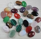 Two 7x5mm Oval Cabochons Semi-Precious Stone  Flat Back CHOICE of Stone