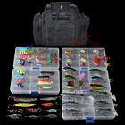 Fishing Tackle Bag Waterproof Storage With Set 60 Spinners Spoon Lure in 5 BoxesHunting Bags & Packs - 52503
