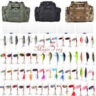 Внешний вид - Fishing Tackle Bag Waterproof Storage With Set 60 Spinners Spoon Lure in 5 Boxes
