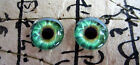 Taxidermy Glass Dragon, Doll, Teddy Eyes, Human Green 10mm, 14mm, 16mm