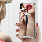 Shockproof Glossy Mirror Make Up Utral Slim Cover Case for iPhone 11 Pro 8 Plus