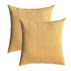 "18""X18"" 2 Pack Throw Pillow Cases Soft Solid Cushion Cover for Couch Sofa Chair image"