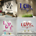 EP_ 3D Love Letter Quote Flower Bird Wall Sticker Mural Art Decal Home Decor Hot